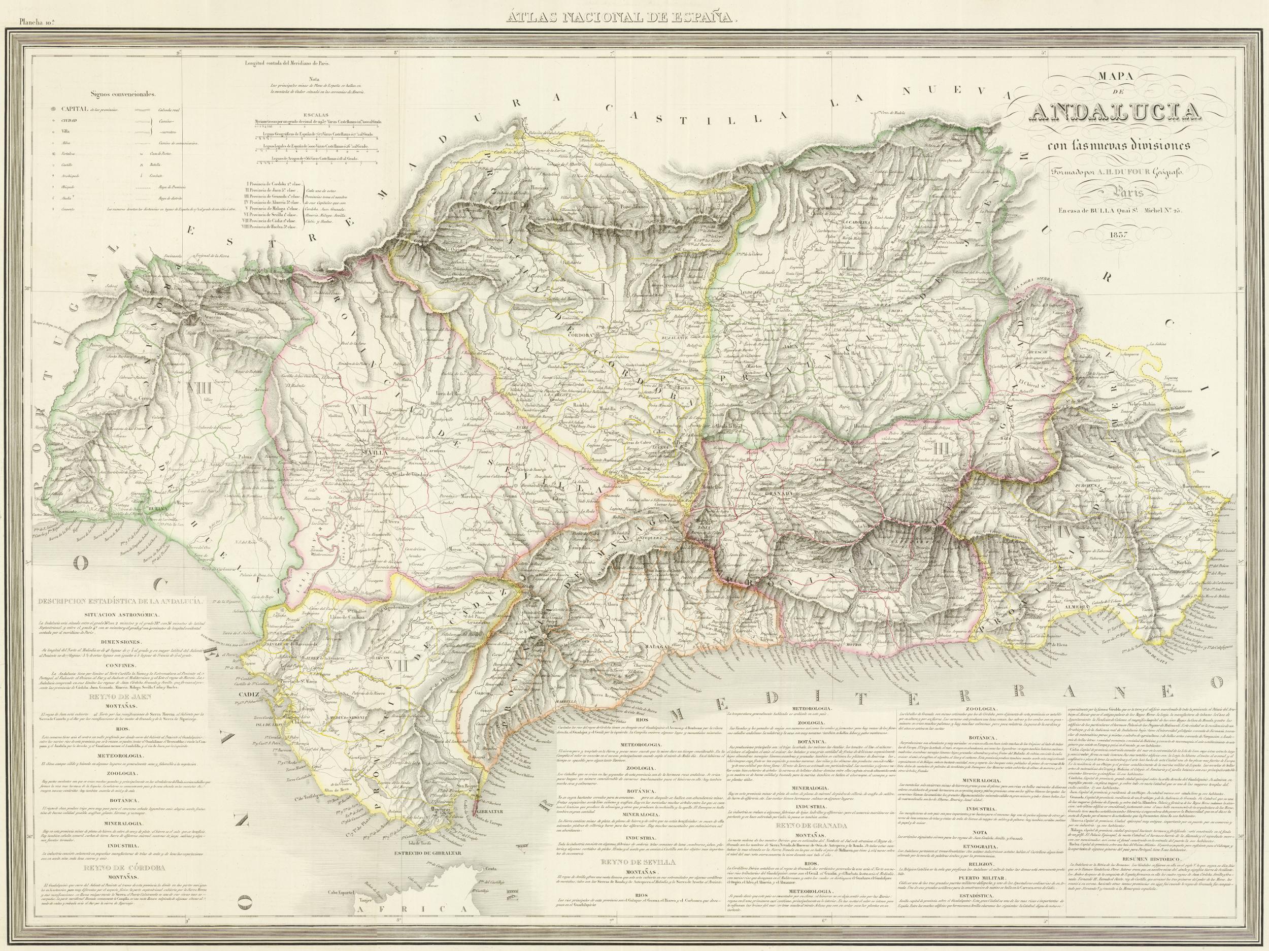 Provincias andaluzas 1833