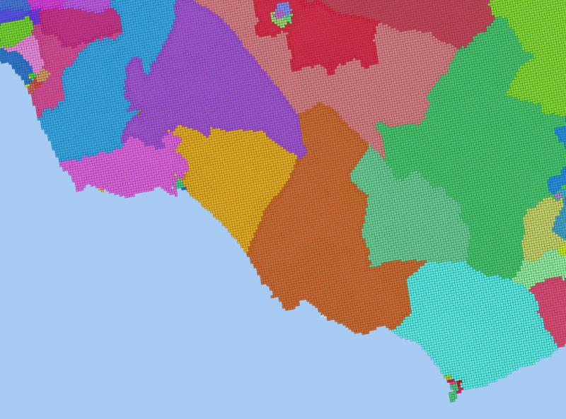 Seccionado sobre el sudoeste de Cádiz