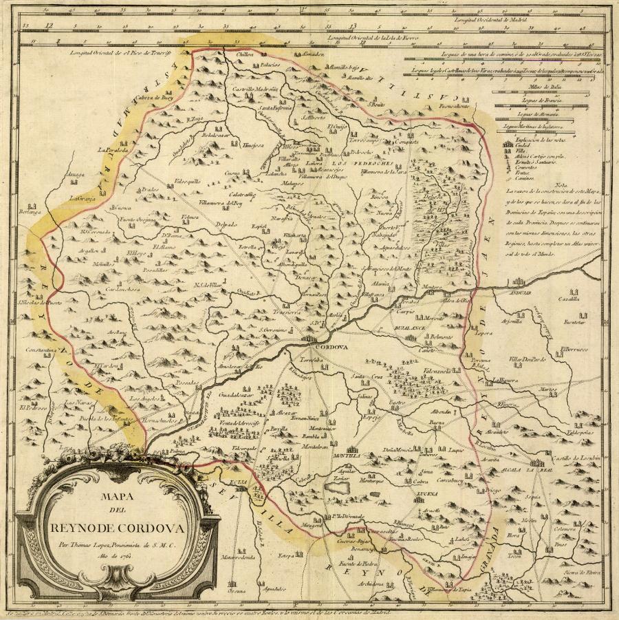 Mapa del Reyno de Cordova