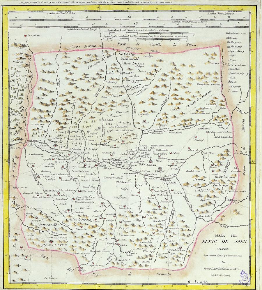 Mapa del Reyno de Jaén