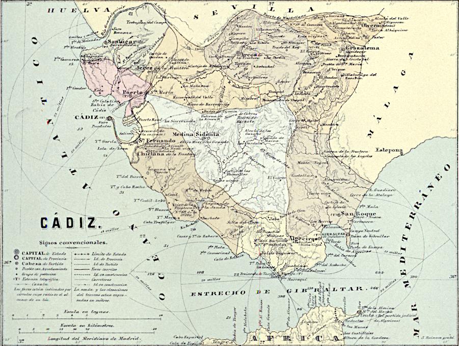 España Geografica Cadiz