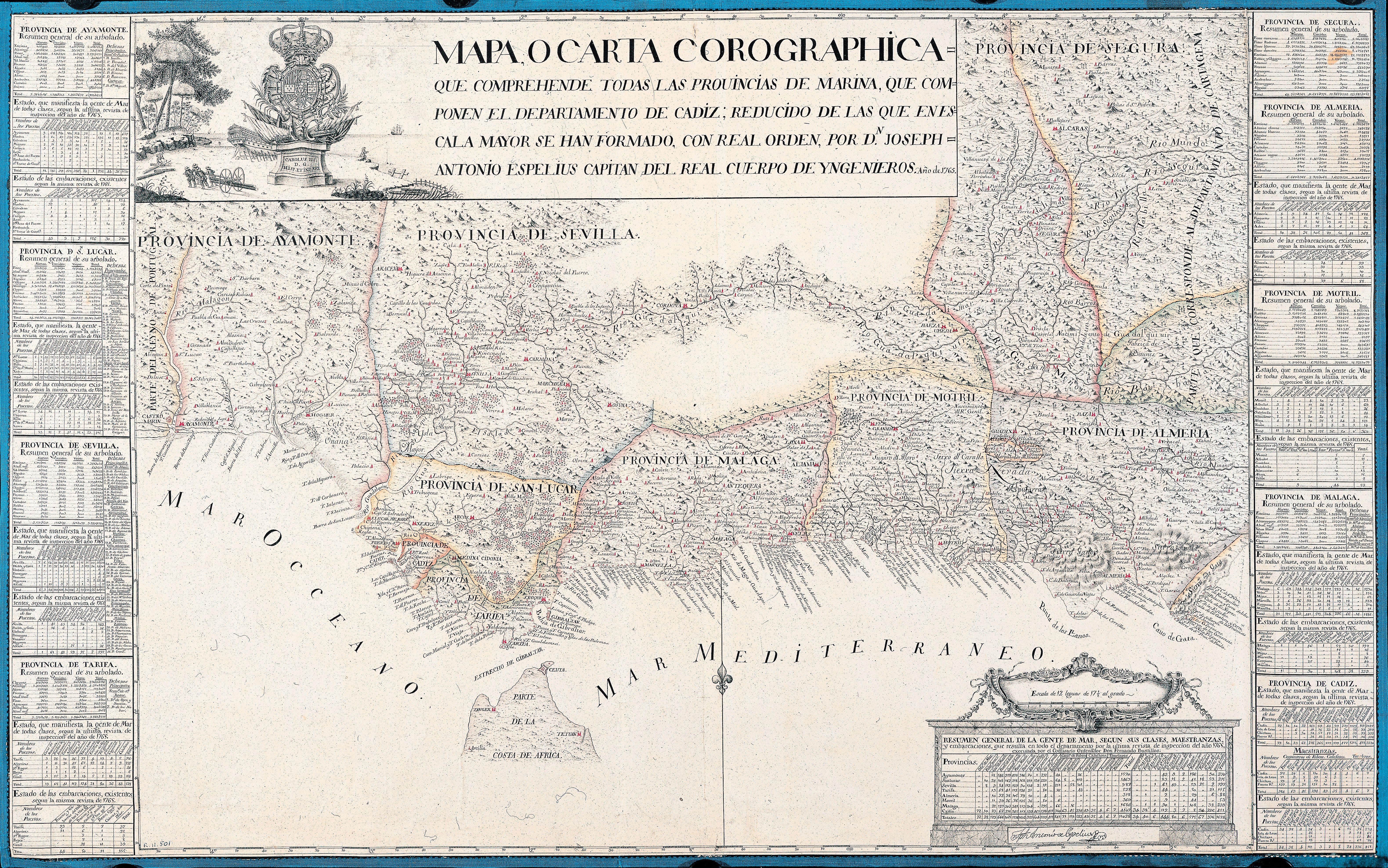 Provincias de Marina 1765
