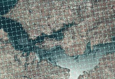 Distribución de la Población de Andalucía en celdas de 250m de lado