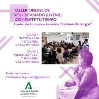 El centro Carmen de Burgos acoge en abril un taller sobre voluntariado y un club audiovisual