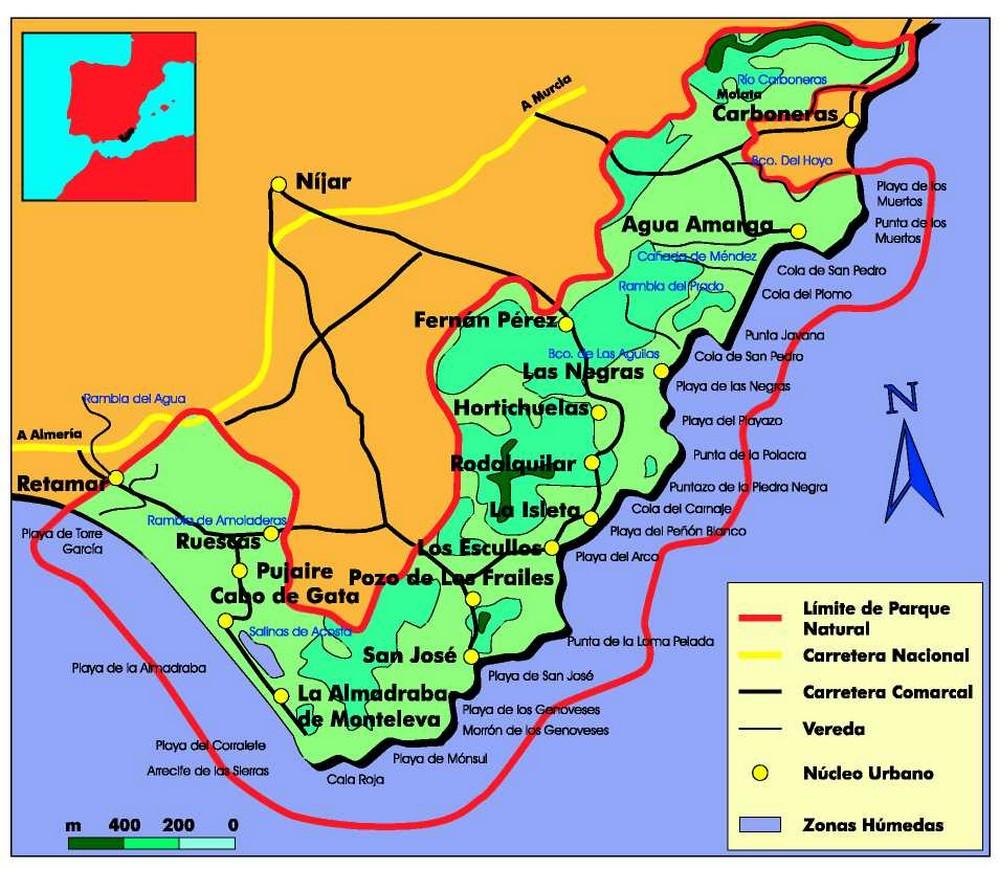 Resultado de imagen de Mapa de La Reserva Marina de Cabo de Gata