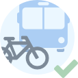 Get around in a sustainable way: public transport, bicycle, on foot, electric or shared vehicle ... Park in the designated places
