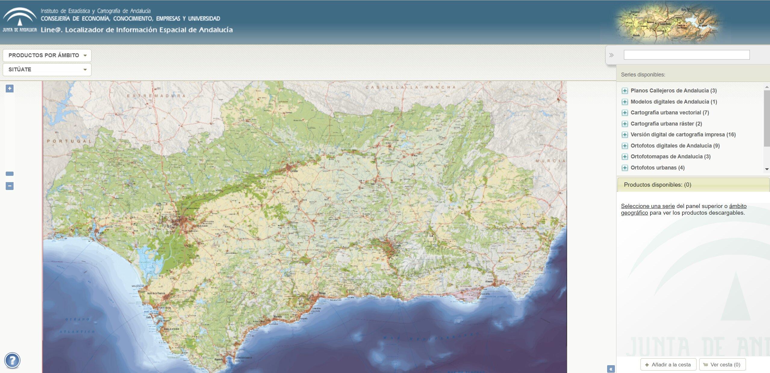 Localizador de Información Espacial de Andalucía