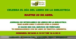 Día del libro en la biblioteca. Martes 23 de Abril