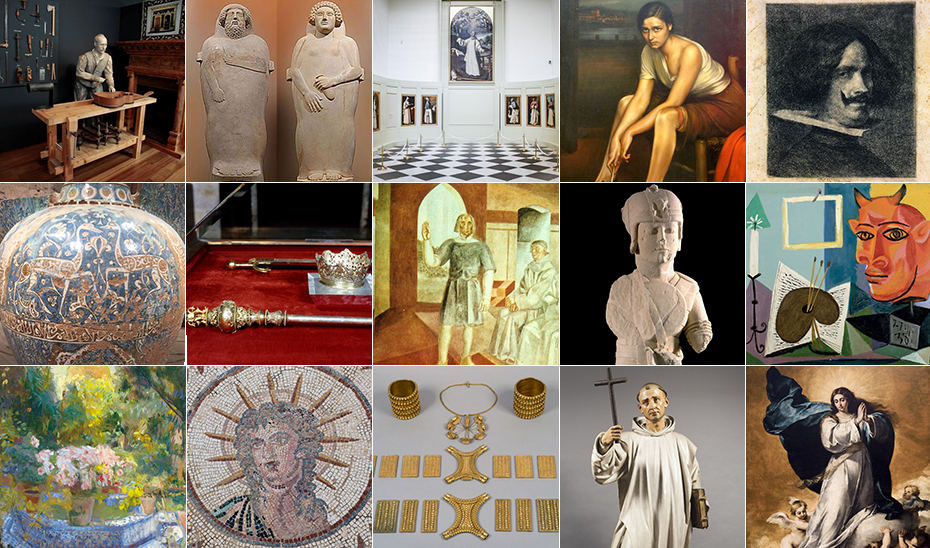 Obras de arte que representan la creación artística de Andalucía