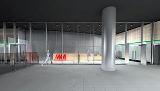 Recreación del centro de atención al viajero del metro de Málaga.