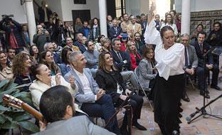 La presidenta de la Junta, durante un momento de la presentación de la programación prevista para conmemorar el Día del Flamenco, que se celebra el 16 de noviembre.