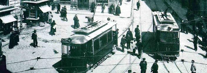 El tranvía comenzó a recorrer el callejero urbano de Granada a principios del siglo XX.