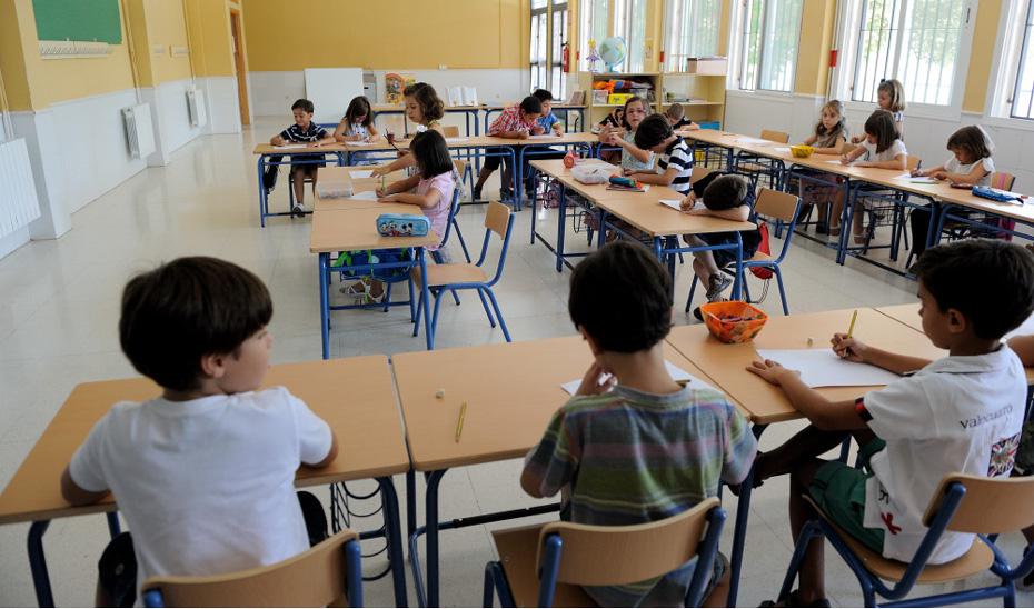 Alumnos andaluces en el aula de un colegio de Primaria.