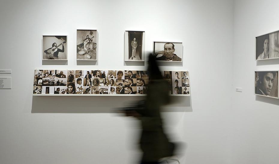 Algunas de las fotografías de Máximo Moreno expuestas en el Instituto Andaluz de Flamenco.