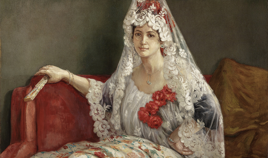 'Retrato de Conchita', una colorida y vistosa obra costumbrista de José Rico Cejudo (1864-1939).