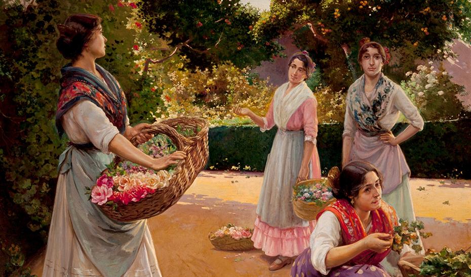 'Las floreras' (1920), obra de Rico Cejudo que puede verse en la pinacoteca hispalense.