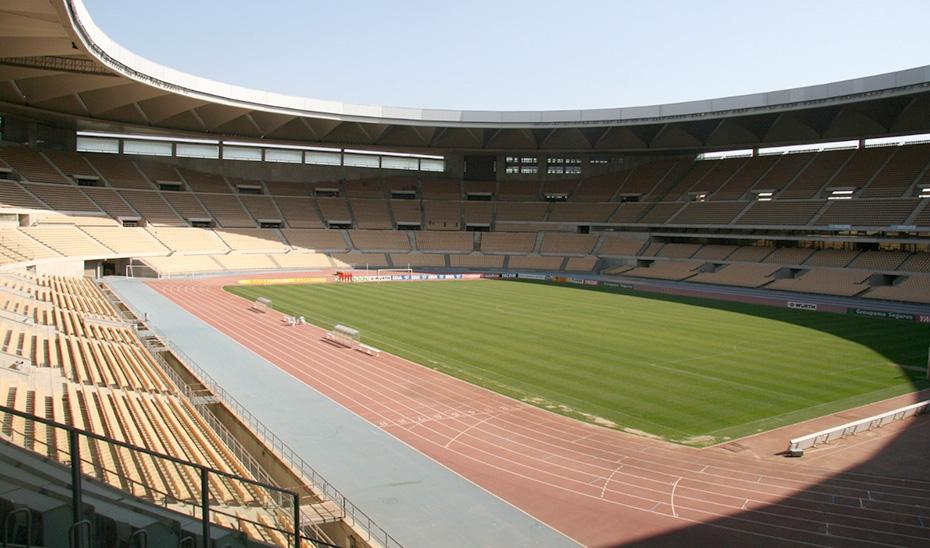 Vista general del interior del Estadio de la Cartuja de Sevilla.