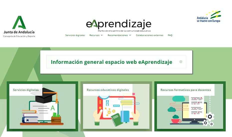 La web eAprendizaje, nuevo espacio para facilitar la continuidad del  proceso educativo durante la alerta - Portavoz del Gobierno Andaluz