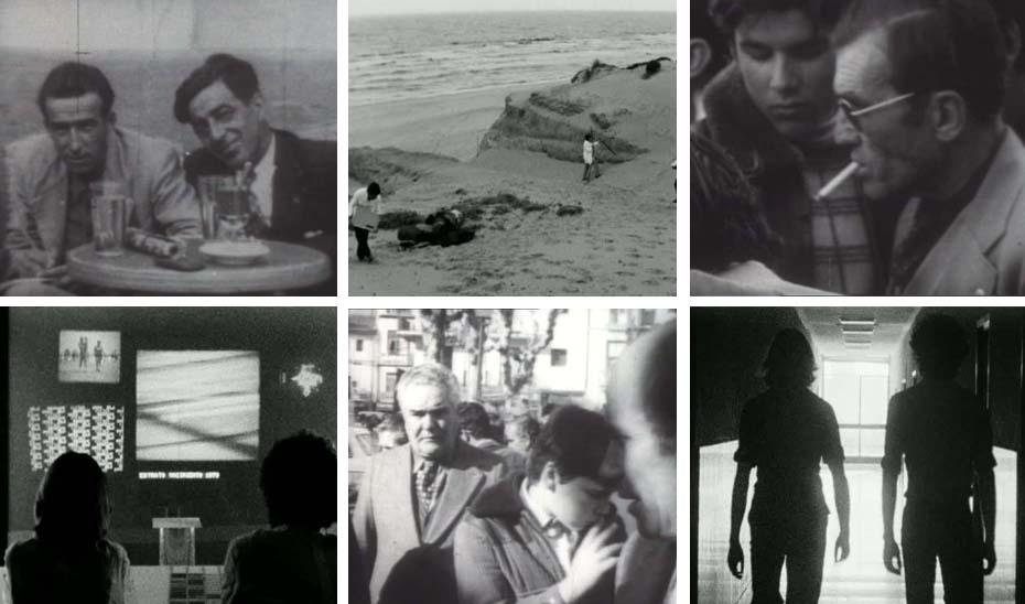 Fotogramas de 'La Alameda' y 'C.A.7.9. Un enigma del futuro', producciones de Bollaín recuperadas por la Consejería de Cultura.