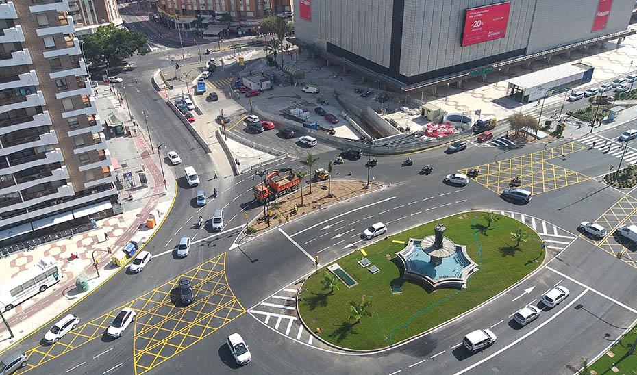 Zona por la que discurrirá parte del trazado de ampliación del Metro de Málaga.