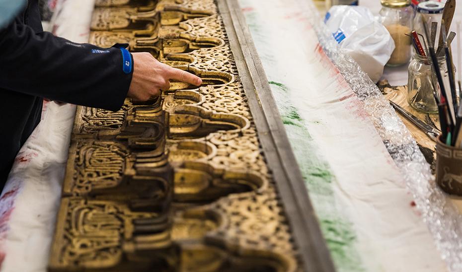 La Alhambra recupera un arrocabe medieval de la Torre de las Damas desaparecido casi dos siglos
