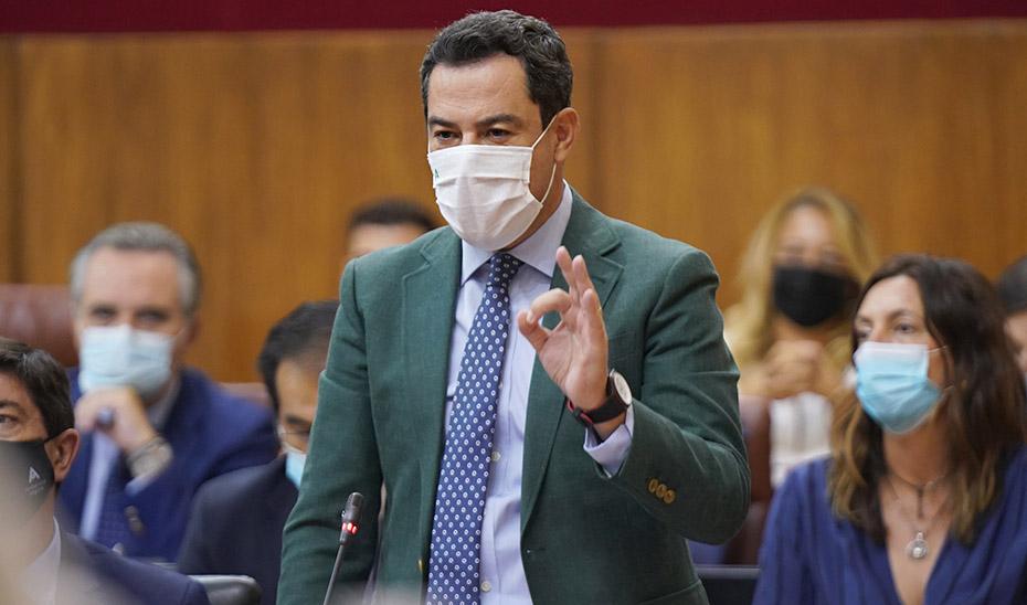 Moreno anuncia 1.000 millones más para Sanidad en un presupuesto expansivo de 43.800 millones para 2022