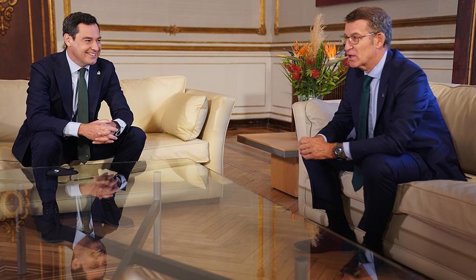 Moreno y Feijóo reclaman el fin de la bilateralidad y una financiación que garantice la igualdad entre españoles