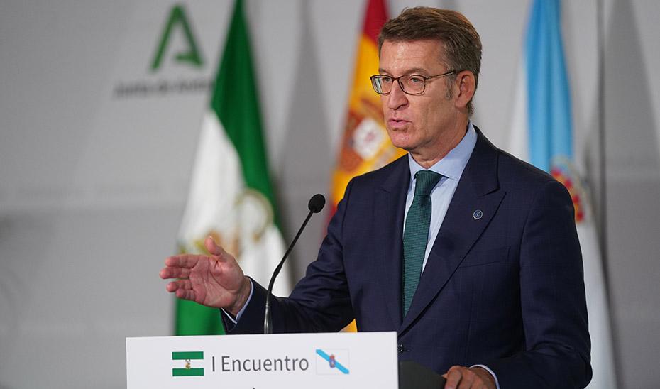 Intervención de Alberto Núñez Feijóo tras el I Encuentro Andalucía-Galicia