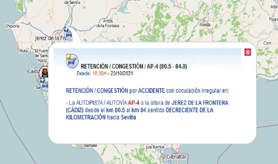 Un fallecido en un accidente de tráfico en Jerez de la Frontera