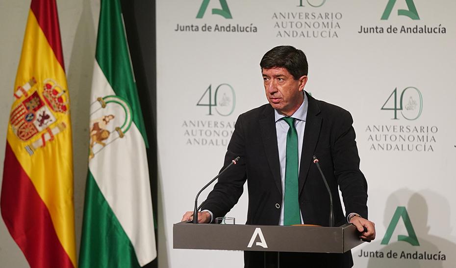 Juan Marín presenta un balance del primer trimestre del curso escolar