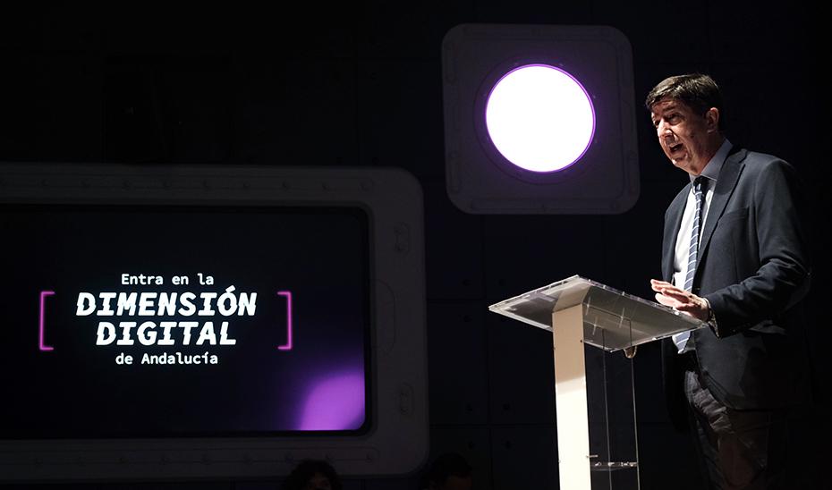 El vicepresidente de la Junta, Juan Marín, durante su intervención en Dimensión Digital de Andalucía.