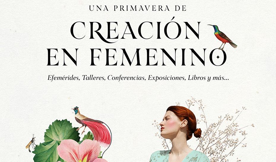 Detalle del cartel del IAM del programa \u0027Una primavera de creación en femenino\u0027.
