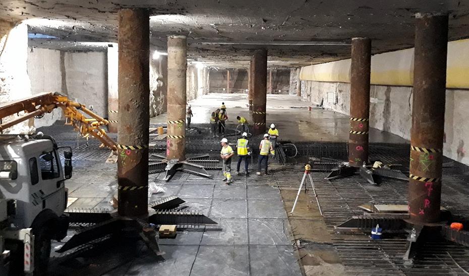 Obras del Metro de Málaga.