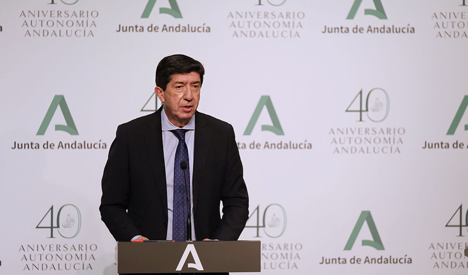 Juan Marín anuncia ayudas para empresas del sector turístico afectadas por la pandemia de Covid-19