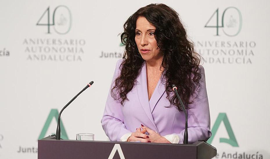 Rocío Ruiz informa de que Andalucía alcanzó en marzo cifra récord de beneficiarios de la dependencia