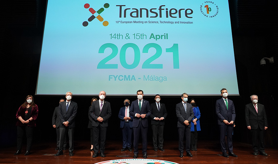 Juanma Moreno inaugura el Foro Transfiere 2021