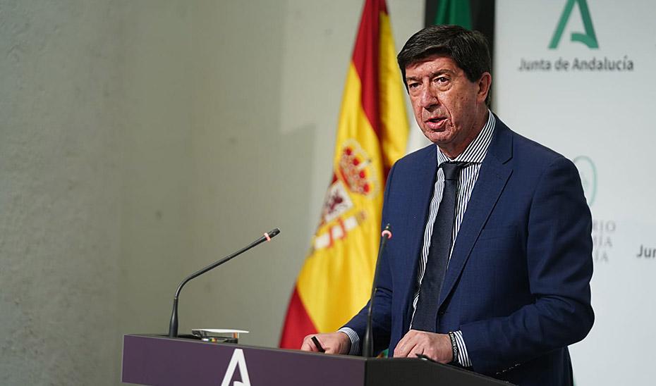 Juan Marín informa del decreto aprobado por el Gobierno andaluz de bajada de impuestos