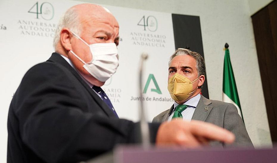 Comparecencia de Elías Bendodo y Jesús Aguirre tras la reunión del Consejo de Gobierno (audio íntegro)