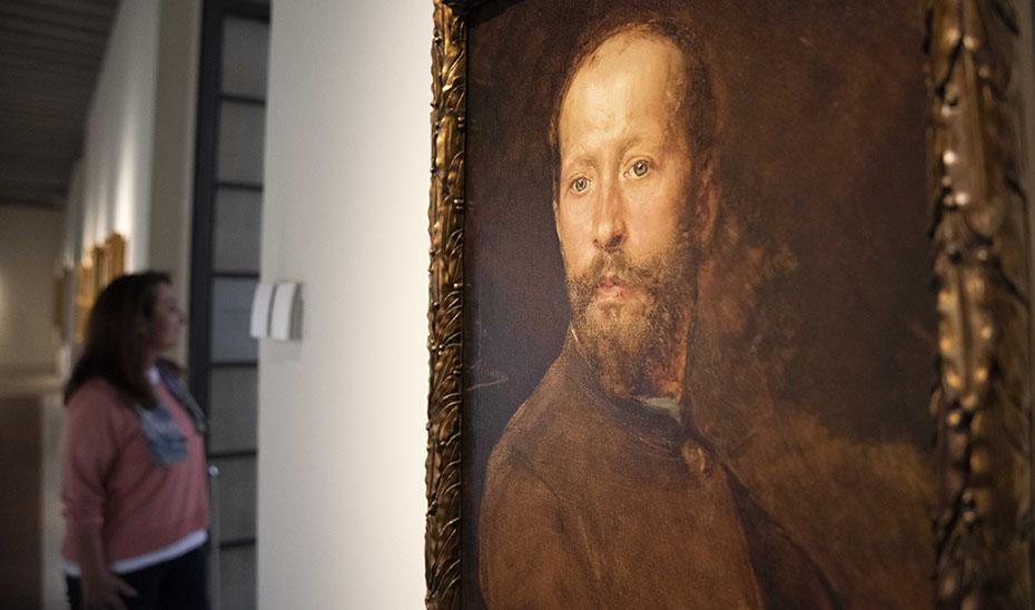 Rostro desafiante del pintor José Villegas, al que acompaña la leyenda 'Yo, Villegas'.