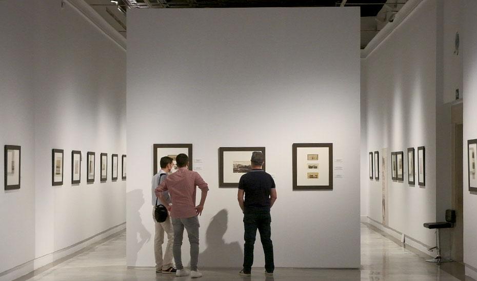 Detalle de la exposición en el Museo de Bellas Artes de Sevilla.