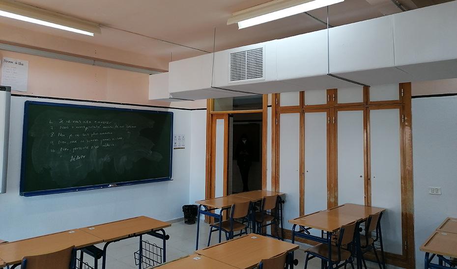 Refrigeración adiabática en un centro escolar.