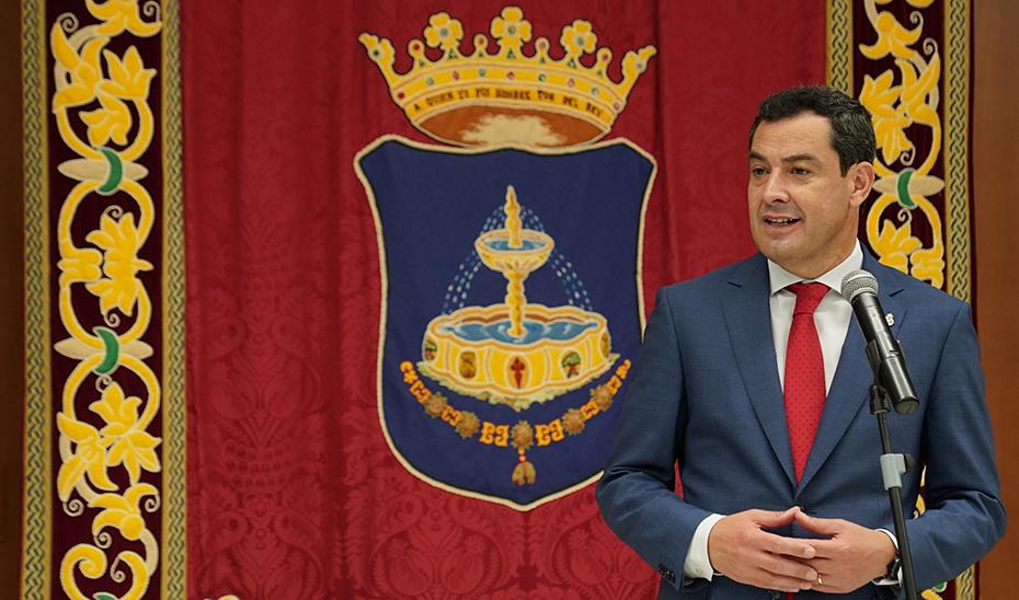 Intervención del presidente de la Junta en su visita institucional al municipio sevillano de Pilas