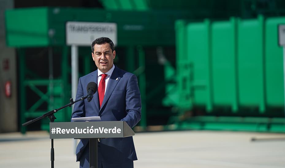 Intervención de Juanma Moreno en la inauguración de la planta de transferencia de Chiclana