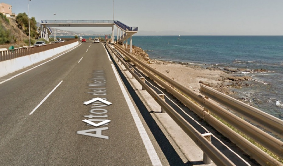Lugar de la autovía A-7 donde tuvo lugar el accidente.