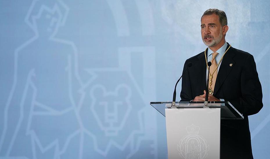 Intervención de Felipe VI, tras recibir la Medalla de Honor de Andalucía