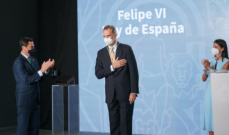 El Rey Felipe VI agradece la concesión de la Medalla de Honor