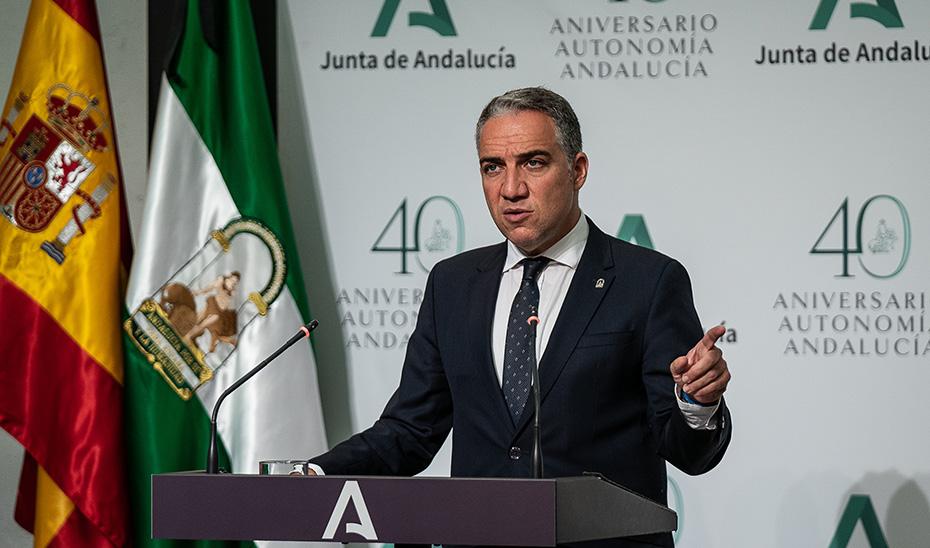 El portavoz del Gobierno andaluz informa de la aprobación de una declaración institucional por el fallecimiento de Manuel Clavero Arévalo
