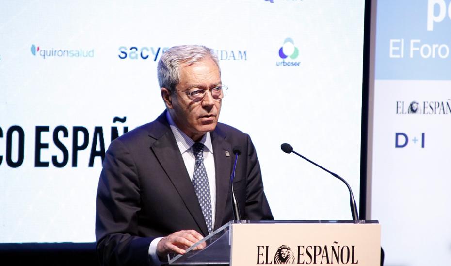 El consejero de Transformación Económica, Industria, Conocimiento y Universidades, Rogelio Velasco, durante su intervención en el Foro Económico \u0027La Andalucía pos-Covid\u0027 del periódico El Español.