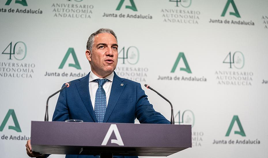 Bendodo anuncia el nuevo inicio del trámite parlamentario de la Ley de Impulso a la Sostenibilidad del Territorio de Andalucía
