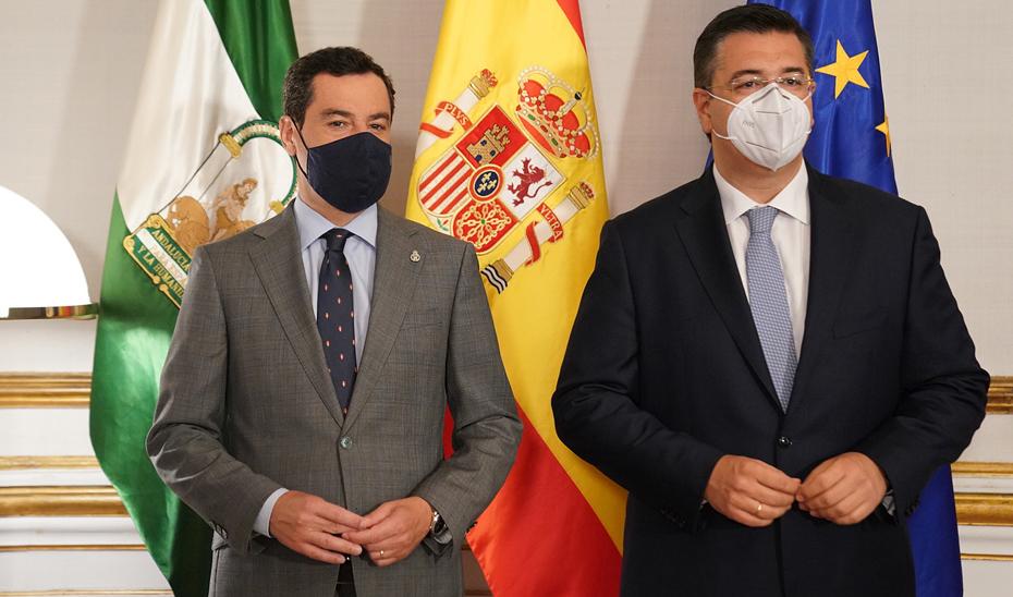 Moreno, con el presidente del Comité de las Regiones
